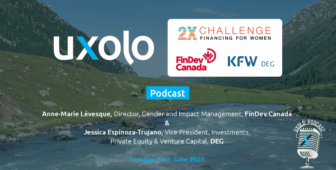 2X Challenge's Anne-Marie Lévesque, FinDev Canada and Jessica Espinoza-Trujano, DEG