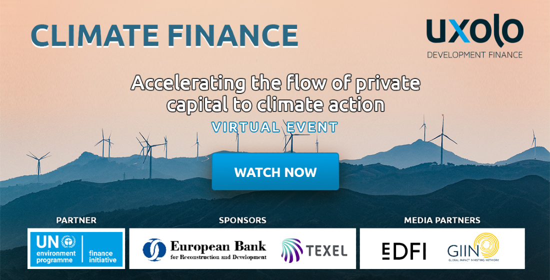 UXOLO CLIMATE FINANCE | Watch on demand content today